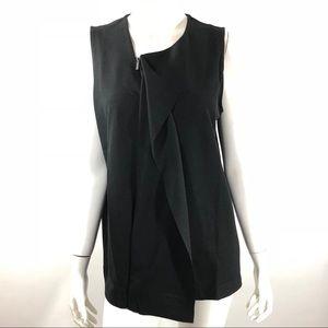 Alfani Top Large Black Sleeveless Blouse Zipper